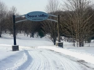 Boyne Valley Vineyards Sign