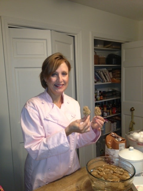 Chef holding morel mushrooms