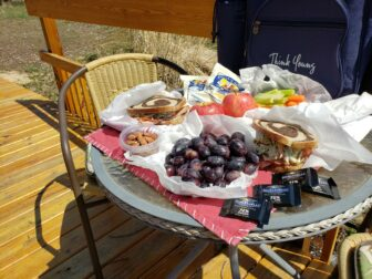Picnic lunch outside