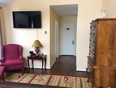 Image of Cherry Room Sitting Area with Smart TV