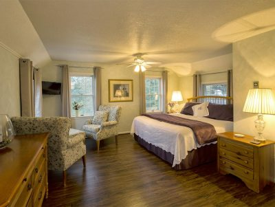 Birch Room with a King Bed, TV and Lots of Natural Light