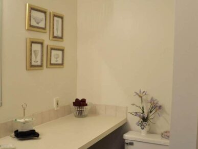 Image of Bathroom in Birch Room with a Stall Shower