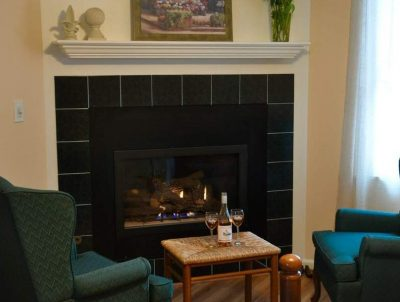Image of Tamarack Room with a Fireplace