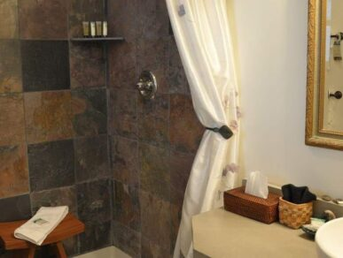 Image of Maple Bathroom with a Stall Shower