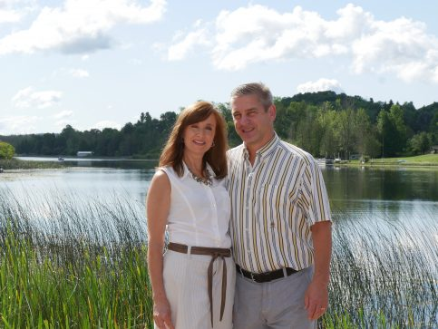 Picture of Phil and Marci (the owners) by the lake